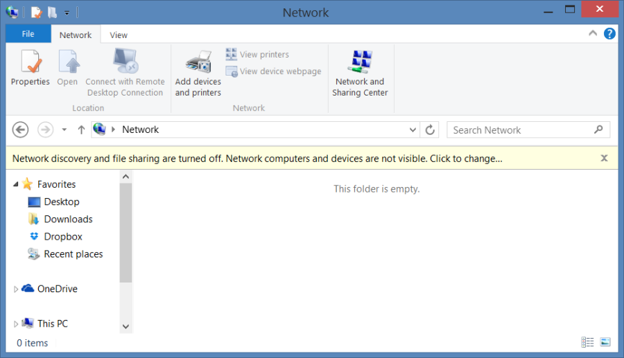 Windows 10 Pop-up message to enable network discovery and file sharing on Private Network